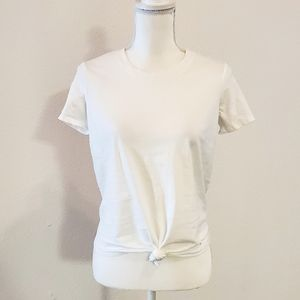Madewell Knot Front Tee, XS